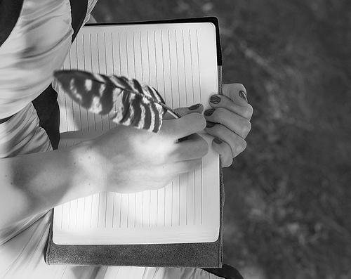 write writer writing journal feather pen book author