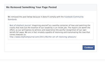 facebook nudity violation