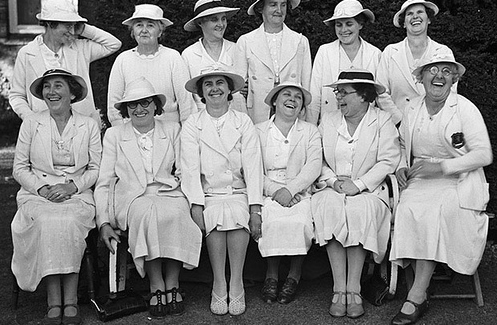 Newtown_Ladies_bowling_laughter_1939