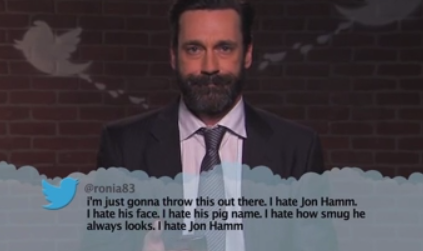 Jon Hamm social media negativity jimmy kimmel