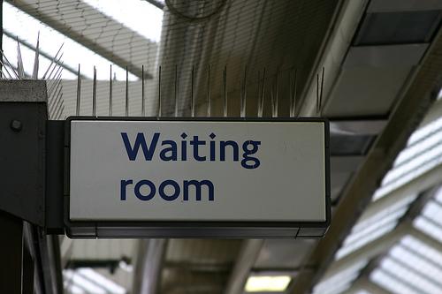 Waiting Room Sign Hospital