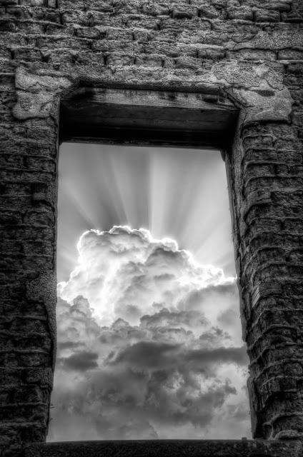 doorway other side heaven sky gate