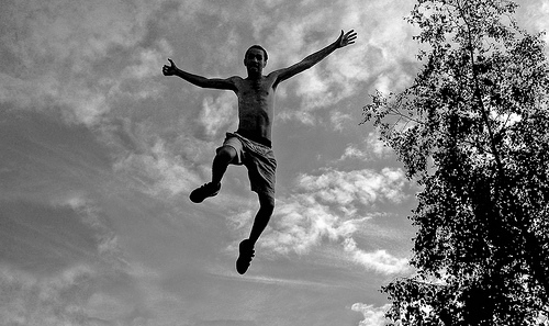 jumping falling