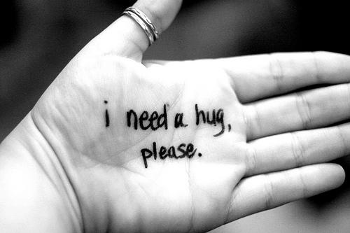 need a hug hand