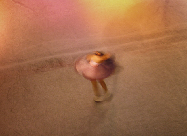 pastel blurr figure skater
