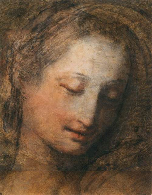 Federico_Barocci_-_Face_of_a_Woman_with_Downcast_Eyes_-_WGA01301