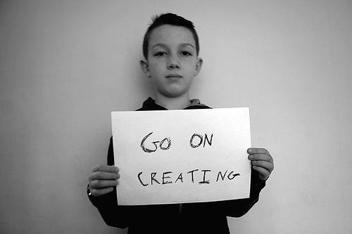 creating sign kid boy child creativity writing