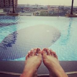 pool swim outdoors