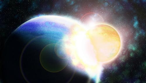 planet art collision
