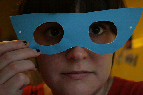 super hero lady mask