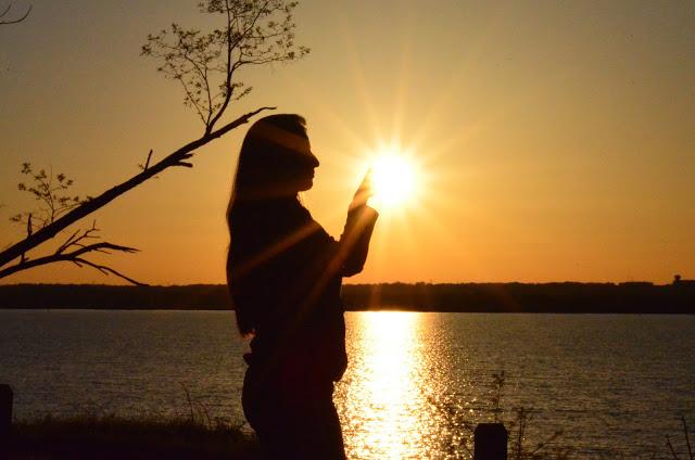 touch sun energy healing light nature woman morning