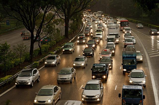 traffic cars drive
