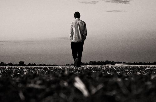 walking away let go goodbye back man body / Vato Bob