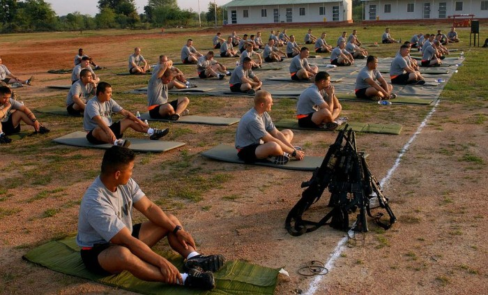 yoga military army