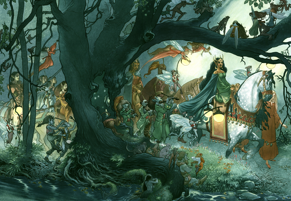 Fairy Procession, by Charles Vess.