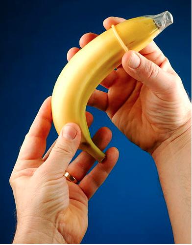Banana condom sexual education