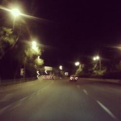 night drive road