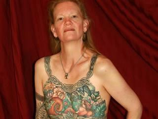 Inga Duncan Thornell's breast tattoo