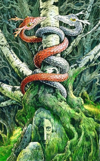 'Balance,' by Will Worthington, from the Wildwood Tarot, by Mark Ryan.
