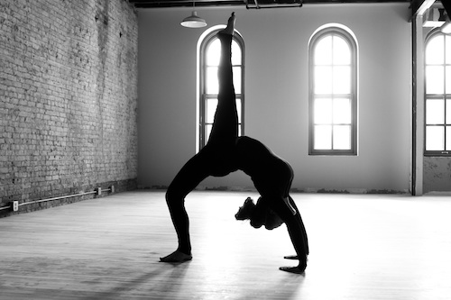 Black And White Yoga Photo