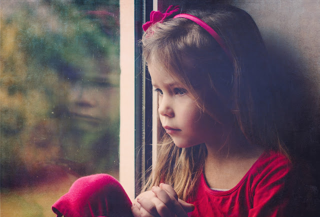 aware girl awake child pink window thinking