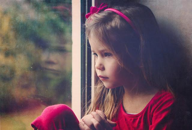 aware girl awake child pink window thinking