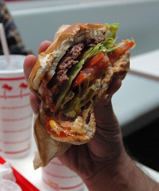 burger meat fast food