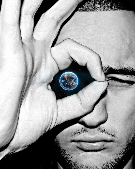 eye planet man earth
