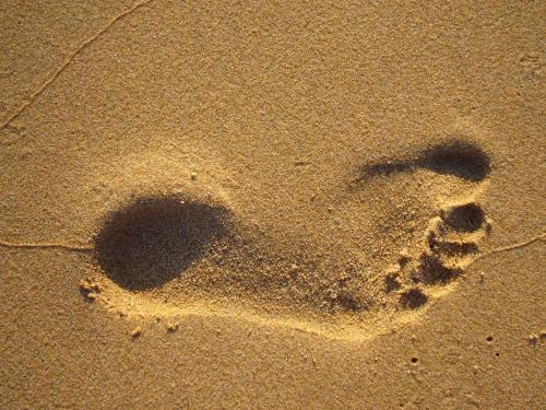 footprint in sand