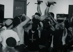 metal mosh concert