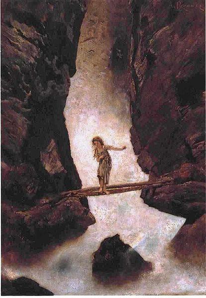 414px-Anton_Romako_-_Am_Wasserfall