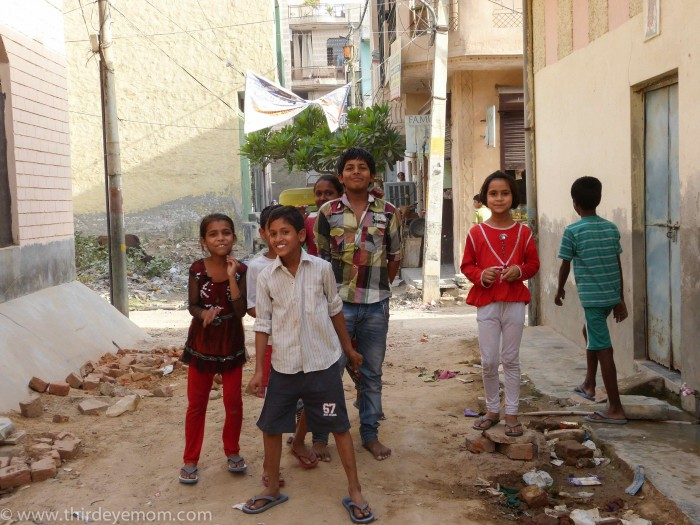 Children in the slums India