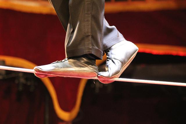 balance tightrope