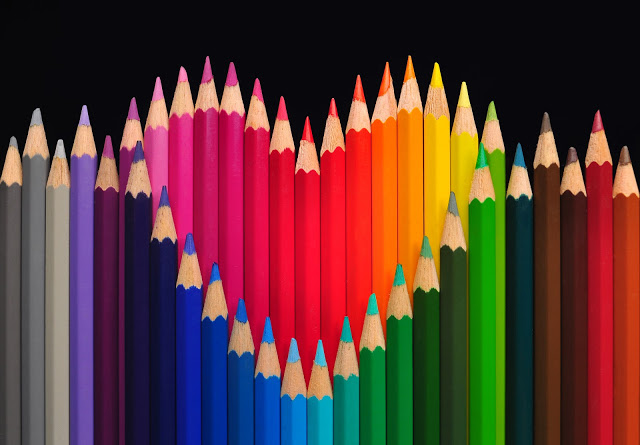 color pencil create heart