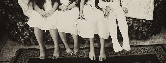 kids feet family