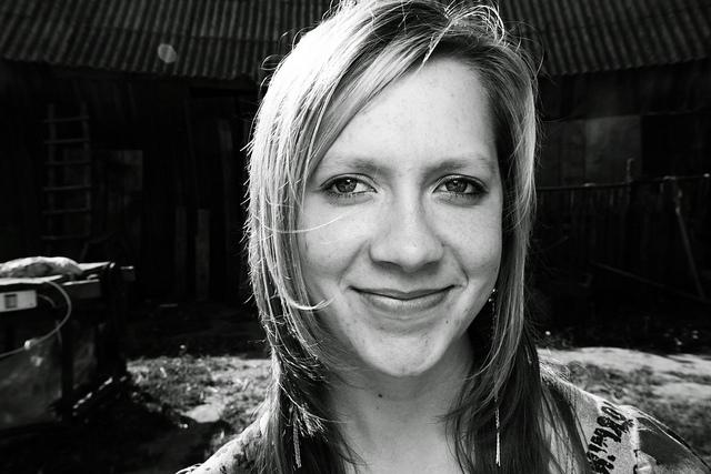 woman girl face smile