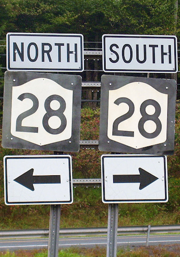 North South Route 28 Arrows