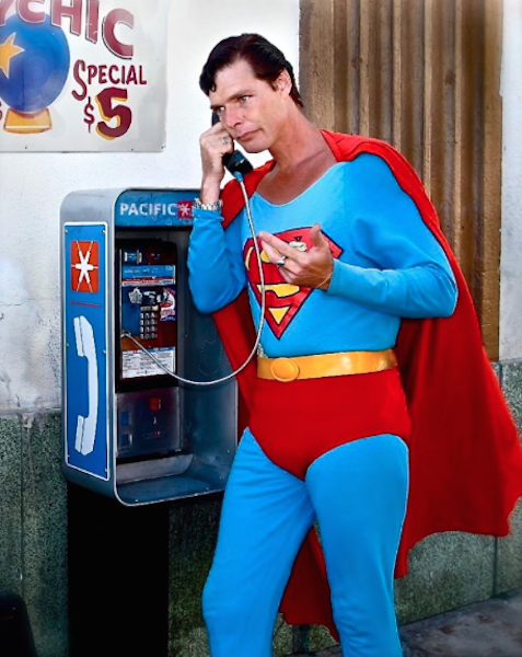 Superman photo booth