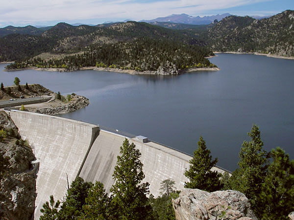 Gross Reservoir, Colorado: the dam