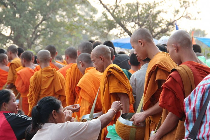 monks - alms compassion humanity connect community