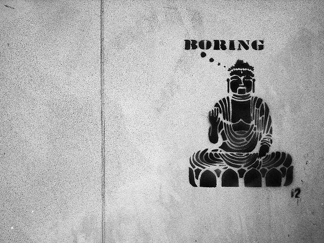 Graffiti Buddha Boring