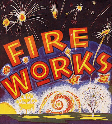 Vintage Fireworks Posters and Labels for The Fourth of July (1)