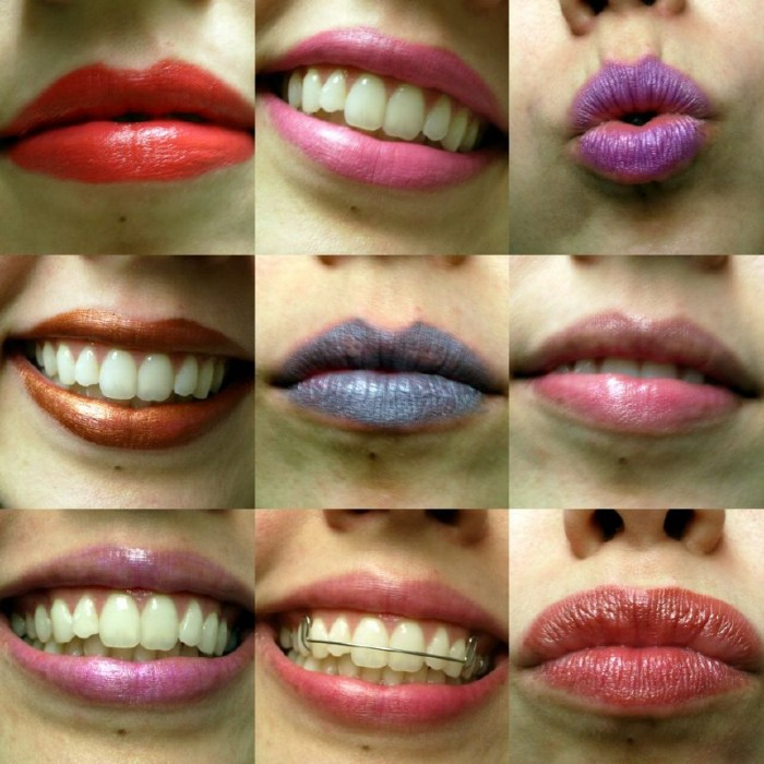 cosmetics lipsticks mouth smile make up