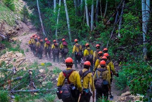 firemen en route
