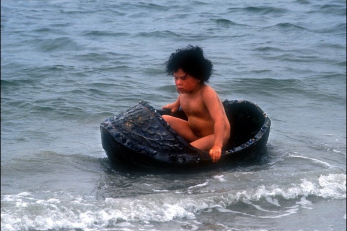 Jamie in his coracle cradle, from _The Secret of Roan Inish_ by John Sayles