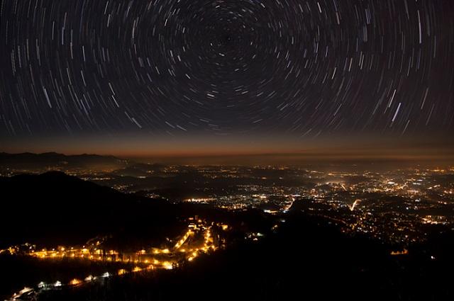 stars city sky