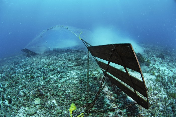 Clear Cutting the Sea: Trawling Net, by Brian Skerry