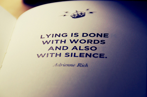 truth silence lies speech