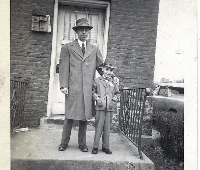 vintage dad son family
