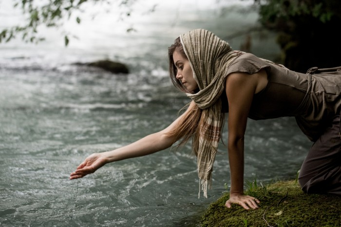 woman by water